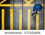 rainy day in hong kong.... | Shutterstock . vector #571102606