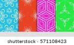 creative set of decorative...   Shutterstock .eps vector #571108423