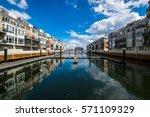 pier homes waterfront in... | Shutterstock . vector #571109329