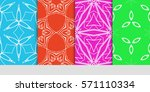 creative set of decorative... | Shutterstock .eps vector #571110334