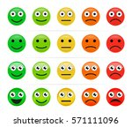 yes  doubt  no. vector smiley.... | Shutterstock .eps vector #571111096