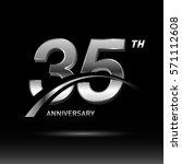 35 years silver anniversary...   Shutterstock .eps vector #571112608