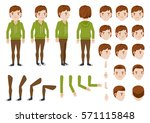 teenage boy character creation... | Shutterstock .eps vector #571115848
