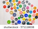 a big set of buttons in various ... | Shutterstock . vector #571118038