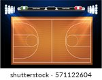 basketball court with... | Shutterstock .eps vector #571122604