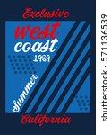 west coast california summer t... | Shutterstock .eps vector #571136539