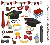 graduation vector artwork clip... | Shutterstock .eps vector #571137934