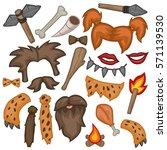 caveman prehistoric comic design | Shutterstock .eps vector #571139530