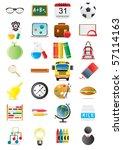 vector illustration of... | Shutterstock .eps vector #57114163