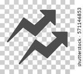 trends icon. vector... | Shutterstock .eps vector #571146853