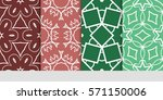 set of flower  geometric...   Shutterstock .eps vector #571150006