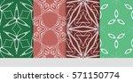 set of flower  geometric... | Shutterstock .eps vector #571150774