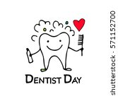 dentist day  tooth character... | Shutterstock .eps vector #571152700