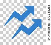 trends icon. vector... | Shutterstock .eps vector #571155286