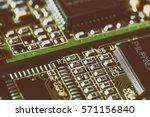 pc mainboard. selective focus | Shutterstock . vector #571156840