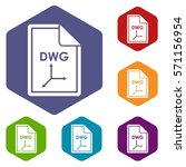 file dwg icons set rhombus in...