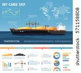 cargo ship. tanker  cargo ship... | Shutterstock .eps vector #571158808