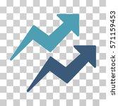 trends icon. vector... | Shutterstock .eps vector #571159453