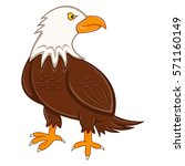 eagle cartoon vector... | Shutterstock .eps vector #571160149