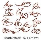 calligraphic design elements... | Shutterstock .eps vector #571174594