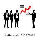 businessman show schedule... | Shutterstock .eps vector #571174630