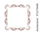 decorative vintage frame with... | Shutterstock .eps vector #571174648