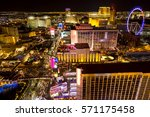 hotels and strip boulevard of... | Shutterstock . vector #571175458