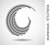 abstract circle with lines ... | Shutterstock .eps vector #571176016