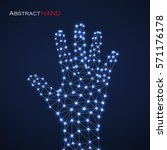 abstract hand of man with... | Shutterstock .eps vector #571176178