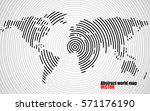 abstract world map of radial... | Shutterstock .eps vector #571176190