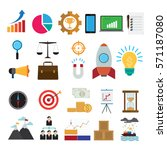 business icons vector... | Shutterstock .eps vector #571187080