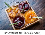 Various Glass Bowl Of Fruit...