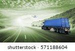 logistics import export... | Shutterstock . vector #571188604