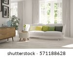 white room with sofa and green... | Shutterstock . vector #571188628