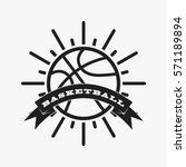 basketball club logo and badge... | Shutterstock .eps vector #571189894