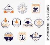 space exploration sci fi vector ...   Shutterstock .eps vector #571196899