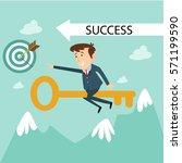 manager marketing office... | Shutterstock .eps vector #571199590