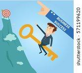 manager marketing office... | Shutterstock .eps vector #571199620