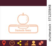 lunch box with apple  icon....