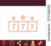 jackpot  icon. vector design. | Shutterstock .eps vector #571206340