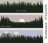 pine forest. banners collection.... | Shutterstock .eps vector #571214296