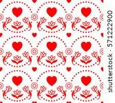 happy valentine's day  seamless ... | Shutterstock .eps vector #571222900