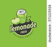 logo of fresh drink | Shutterstock .eps vector #571225528