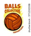 vector cartoon balls collection | Shutterstock .eps vector #571232338