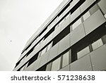 facade of a modern apartment... | Shutterstock . vector #571238638