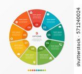 circle chart infographic... | Shutterstock .eps vector #571240024