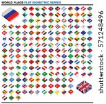 whole worlds flags drawn as... | Shutterstock .eps vector #571248496