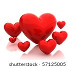 Few hearts - stock photo
