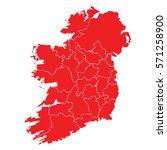 ireland red map | Shutterstock .eps vector #571258900