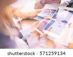 business people meeting... | Shutterstock . vector #571259134